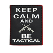 Velcro nášivka - Keep Calm and Be Tactical
